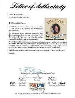 Dr. Dre Authentic Signed The Chronic Album Cover Autographed PSA/DNA #AB00855