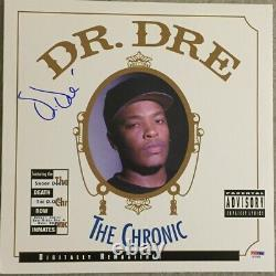 Dr. Dre Signed Autographed The Chronic Record Album LP PSA/DNA COA