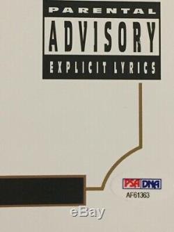 Dr. Dre Signed Autographed The Chronic Record Album LP PSA/DNA COA