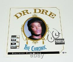 Dr. Dre Signed'the Chronic' Album Vinyl Record Lp Beckett Coa N. W. A Eminem Bas