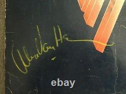 EDDIE VAN HALEN + 2 SIGNED ALBUM FLAT BY Eddie Alex Michael