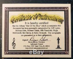 ELO Out of The Blue Album Signed by JEFF LYNNE & The ENTIRE BAND with COA