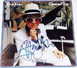 ELTON JOHN HAND SIGNED AUTOGRAPHED GREATEST HITS ALBUM! FULL NAME WithPROOF + COA
