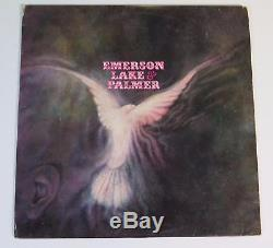 EMERSON, LAKE, AND PALMER Signed Autograph ELP S/T Album Vinyl Record LP by 3