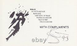 EPPERSON auto DAVID BOWIE signed With Compliments CARD withBTWN album FLAT