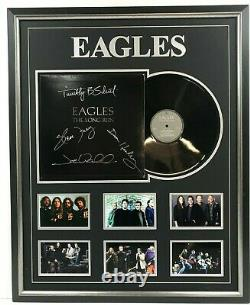 Eagles Hand Signed Framed The Long Run Album Record Frey Henley Walsh