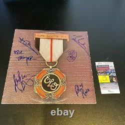 Electric Light Orchestra ELO (6) Signed Vintage LP Record Album JSA COA