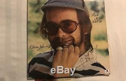 Elton John Rock of The Westies Autographed Signed Album Vinyl Beautiful Rare