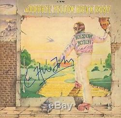 Elton John Vintage Autographed Yellow Brick Rd Album Hand Signed