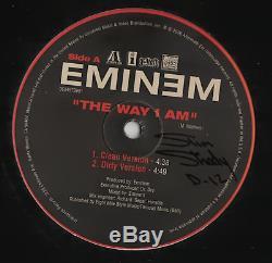 Eminem signed autographed The Way I Am record album! RARE! Beckett BAS LOA