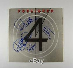 Foreigner 4 Band Autographed Signed Album LP Record Certified Authentic JSA COA
