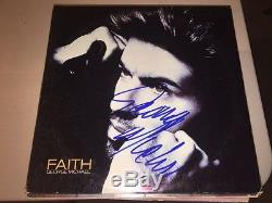 GEORGE MICHAEL Autographed Signed FAITH Album LP