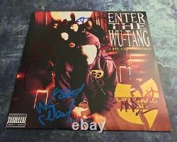 GFA Enter the 36 Chambers x6 WU-TANG CLAN Signed Record Album PROOF COA