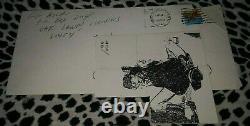 GG ALLIN ORIGINAL ENVELOPE SIGNED & DATED 1989 With STICKER RARE PUNK KBD MISFITS