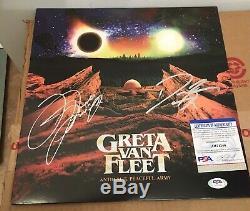 GRETA VAN FLEET Autographed Signed Vinyl Record Album LP PSA/DNA Danny & Jake