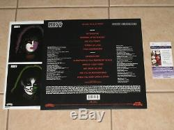 Gene Simmons signed KISS Solo 1978 2014 Reissue Album LP Record Vinyl JSA V73428