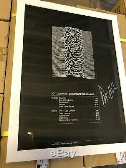 Genuine Factory Records poster for Joy Division Unknown Pleasures album signed