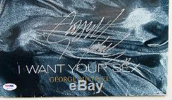 George Michael Autographed I Want Your Sex 12 Vinyl Record Album Signed PSA coa