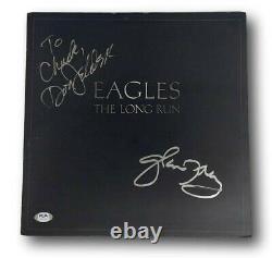 Glenn Frey Don Felder Signed Album Eagles Long Run Autographed PSA/DNA AG55576