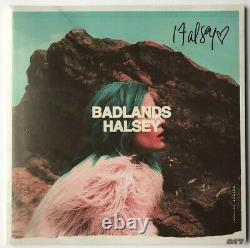 Halsey Signed Debut Album Badlands LP Vinyl Record JSA COA #DD02628 Auto Pink