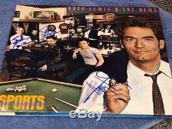Huey Lewis & The News Group Signed Autographed Sports Record Album LP
