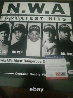 ICE CUBE Signed Autographed N. W. A greatest hits Album cover psa dna