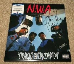 Ice Cube Signed Straight Outta Compton Album Nwa Vinyl Rapper Dr Dre Bas