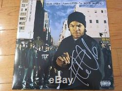 Ice Cube signed album coa + Proof! NWA autographed lp Comptons in the house