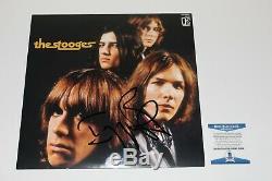 Iggy Pop Signed'the Stooges' Record Album Vinyl Lp Beckett Bas Coa Punk Proof