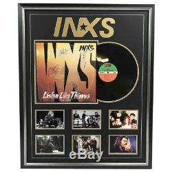 Inxs Hand Signed Framed Album Record Hutchence Farriss Pengilly Certificate
