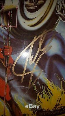 Iron Maiden Signed Number Of The Beast Album/ LP from Steve & Adrian, Proof
