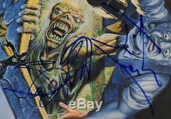 Iron Maiden band signed autographed record album! RARE! JSA COA