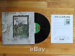 JIMMY PAGE signed LED ZEPPELIN IV Record / Album To Dylan PSA STAIRWAY TO HEAVEN