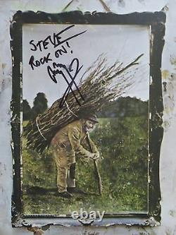 JIMMY PAGE signed LED ZEPPELIN IV Record / Album To Steve PSA STAIRWAY TO HEAVEN