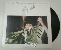 JOHNNY WINTER Autographed Nothin' But The Blues 12 Vinyl Record Album with COA