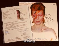 JSA FULL LETTER David Bowie signed AUTHENTIC ALADDIN SANE album NEW condition