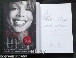 Janet Jackson signed book True You HC/DJ 1/1 Album Record Unbreakable Michael