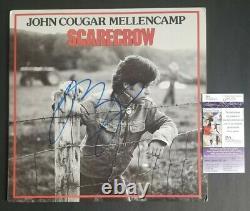 John Cougar Mellencamp signed Scarecrow LP album with JSA COA psa bas