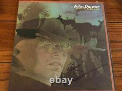 John Denver signed lp coa + Proof! Autographed in person album Very Rare