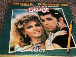 John Travolta & Olivia Newton John Signed Autographed Grease Record Album LP