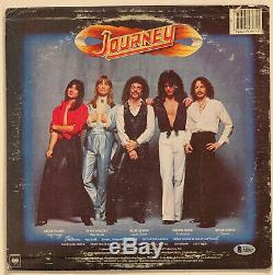 Journey Autographed vinyl record Album Signed by all 5. Beckett BAS COA