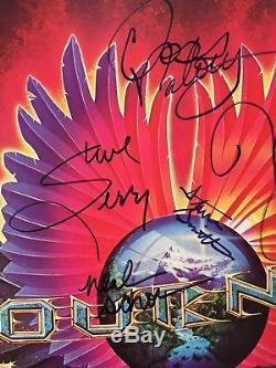 Journey Infinity Lp Vinyl Album Record Signed All + Steve Perry