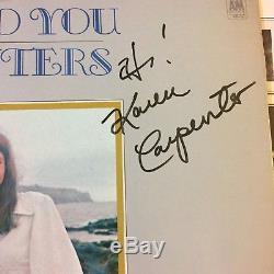 KAREN CARPENTER AUTOGRAPHS CLOSE TO YOU The CARPENTERS 1970 PERFECT RECORD ALBUM