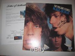 KEITH RICHARDS (Rolling Stones) Signed BLACK AND BLUE Album with PSA LOA