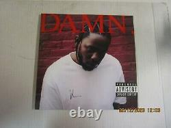 KENDRICK LAMAR Damn. 2xLP Used! 2017 TDE LIMITED RED VINYL SIGNED BY K. DOT