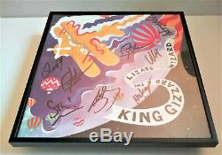 KING GIZZARD AND THE LIZARD WIZARD Quarters SIGNED + FRAMED Vinyl Record Album