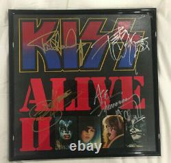KISS ALIVE ll Record Album Autographed Signed by Ace Peter Paul Gene Aucoin