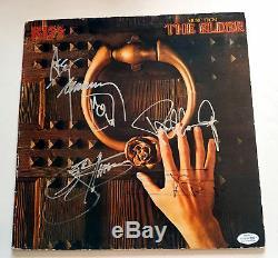 KISS Autographed X4 Signed Record Album LP ACOA