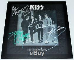 KISS BAND SIGNED AUTHENTIC'DRESSED TO KILL' VINYL RECORD ALBUM LP withCOA X4