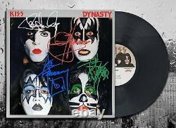 KISS Band Signed DYNASTY Autographed Vinyl Album LP
